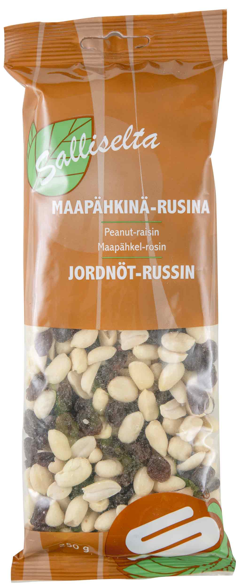 Peanut and raisin mix peeled 250g